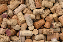 Wine corks. An assortment of French wine corks Stock Photos
