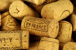 Wine corks. An assortment of French wine corks Stock Images