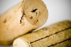 Wine corks. A close up of two wine corks stock photography