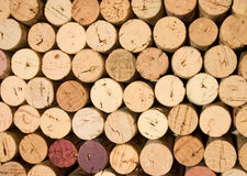 Wine corks _3. Background pattern of wine bottle corks Stock Photos