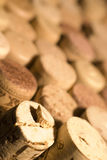 Wine Corks. In matrix close-up photo stock photography