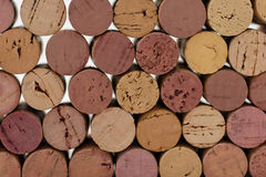 Wine corks. Stacked Stock Photography