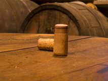 Wine Corks. Two corks in a personal winery in Navasilla, an ancient village of Huesca, Spain Stock Photography