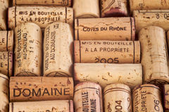 Wine corks. Closeup background shot of some wine corks Stock Photography