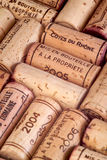 Wine corks. Closeup background shot of some wine corks Stock Image