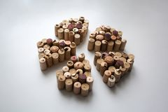 Wine corks abstract flower petals composition royalty free stock image