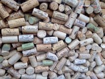Wine Corks. An assortment of wine corks stock photo