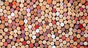 Wine corks background. Close up royalty free stock photos