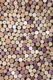 Wine corks background. Close-up image of wine bottle old corks Royalty Free Stock Images
