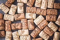 Wine corks background overhead Royalty Free Stock Photography