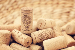 Wine corks backgrounds Stock Images