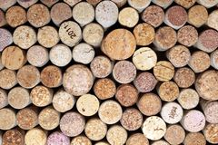 Wine corks. Beautiful brown background with wine stoppers Stock Image