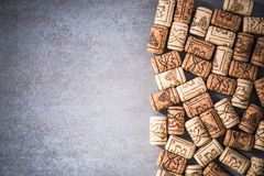 Wine corks border background Royalty Free Stock Photography