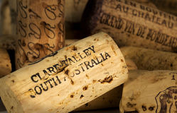 Wine Corks Clare Valley. Close up of wine cork from a bottle from the Clare Valley South Australia Royalty Free Stock Photos