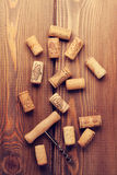 Wine corks and corkscrew Stock Image