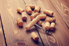 Wine corks and corkscrew Royalty Free Stock Image