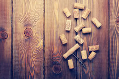 Wine corks and corkscrew Stock Image