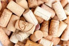 Wine corks. Different wine corks close up Stock Image