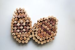 Wine corks Easter eggs design royalty free stock images