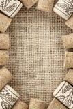 Wine corks frame Stock Image