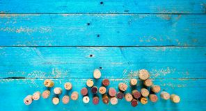 Wine corks. Free copy space Royalty Free Stock Image