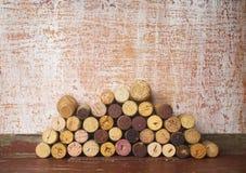 Wine corks, free copy space Stock Image