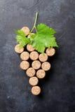 Wine corks grape shape Stock Photography