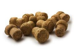 Wine corks isolated Royalty Free Stock Image