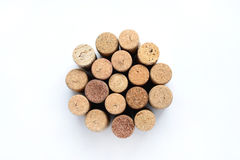 Wine corks isolated Stock Photography