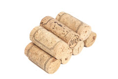 Wine corks isolated on white Royalty Free Stock Photos