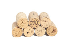 Wine corks isolated on white Royalty Free Stock Photo
