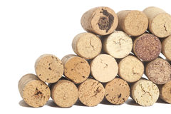Wine corks isolated on white Stock Image