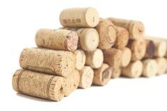 Wine corks isolated on white Stock Photos
