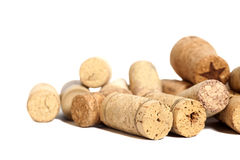 Wine corks isolated on white Royalty Free Stock Photography
