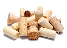 Wine corks isolated on white background Royalty Free Stock Images