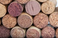 Wine corks isolated. On the white Stock Photography