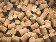 Wine corks. Lots of unbranded wine corks, cork texture. horizontal orientation stock photos