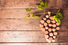 Wine Corks On Table Royalty Free Stock Images