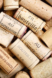 Wine corks. Selection of used wine corks in a pile, ideal for a background Royalty Free Stock Images