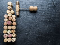 Wine corks in the shape of wine bottle. Stock Images