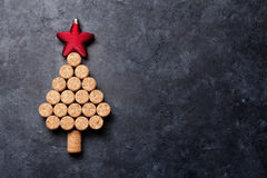 Wine corks shaped christmas tree Royalty Free Stock Images