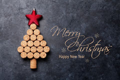 Wine corks shaped christmas tree Stock Images