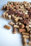 Wine corks splash abstract composition royalty free stock image