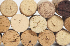 Wine corks texture background closeup Royalty Free Stock Images