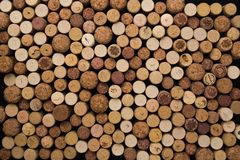 Wine corks texture background. Winery material texture royalty free stock photo