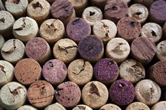 Wine corks textured palette stock images