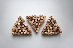 Wine corks triangle shaped pattern royalty free stock photo