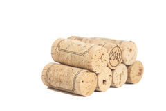 Wine corks  on white. Background Stock Images