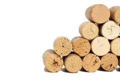 Wine corks  on white. Background Royalty Free Stock Image