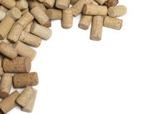 Wine corks on white. Background. with copy space Stock Photography